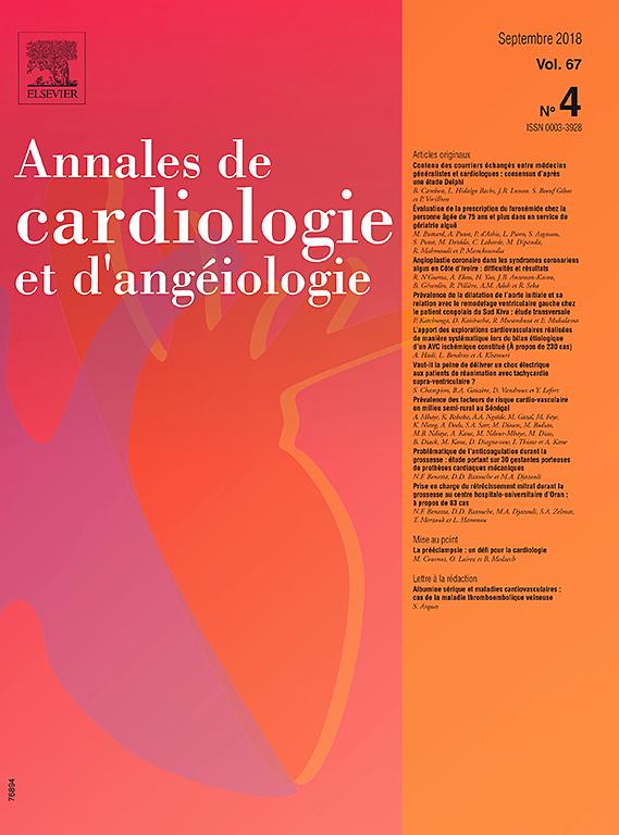 Ann Cardiol Angeiol